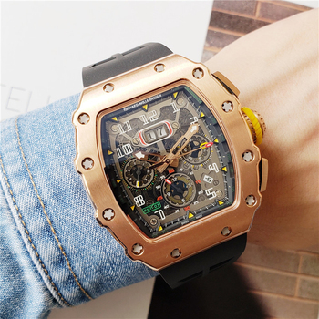Top products AAA RM-watch RICHARD MILLE DESIGN high quality stainless steel Automatic mechanical Movement Watches Men Wristwatch
