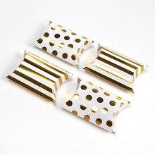 10 шт. Подарочная коробка драже бонбоньерка форма подушки свадебные конфеты печенье наклейка соломенная упаковка на день рождения вечерние подарочные коробки
