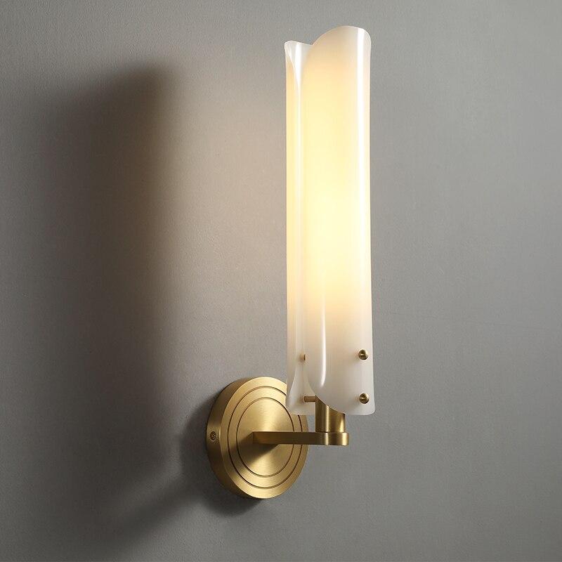 Американский простой латунный настенный держатель для туалета, lampbedside исследование светодиодный подсветка стен в коридоре латунный настен...