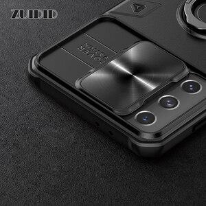 Image 5 - [Luxury] ผู้ถือลายนิ้วมือสำหรับ Samsung Galaxy S21Ultra หมายเหตุ20 Ultra กันกระแทกกล้องเลนส์ป้องกันกันชนโทรศัพท์ครอบคลุม