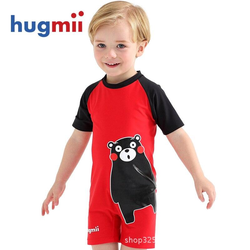Hugmii One-piece Swimsuit For Children Kumamoto Bear Men And Women Baby BOY'S Girls BABY'S Bathing Suit Anti-outside Cute