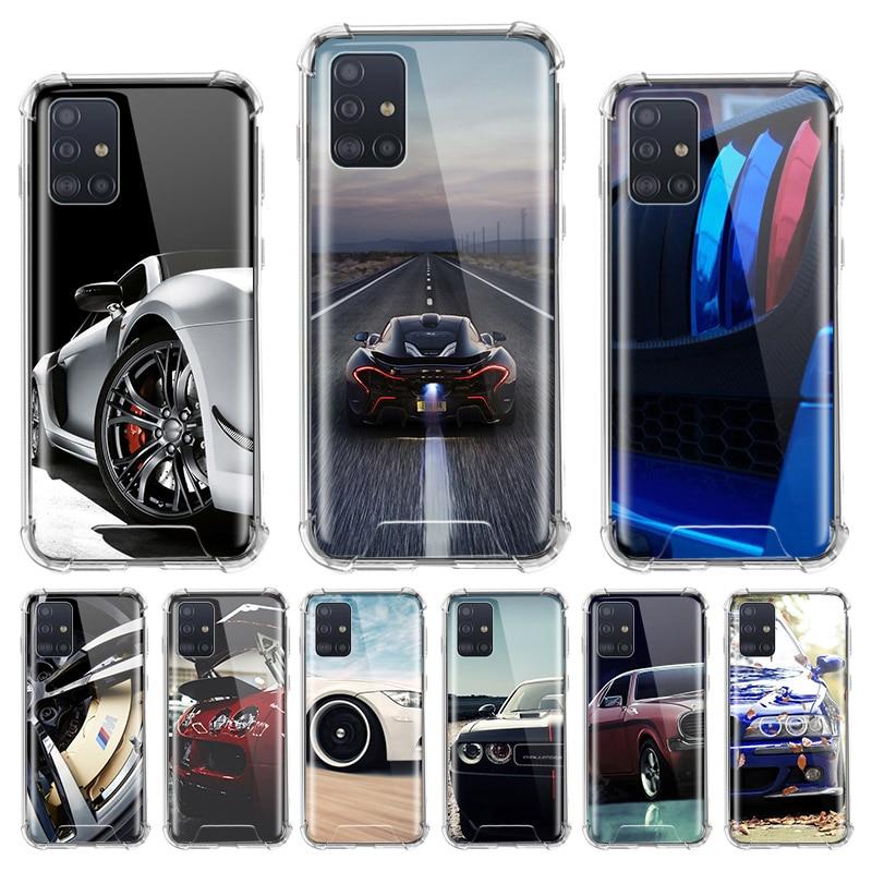 Sport Car Cool Case For Samsung Galaxy A71 A51 M31 A41 A31 A21 A11 A01 M51 M21 M11 Airbag Anti Housing Phone Covers