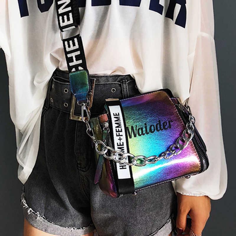 DIHOPE sıcak satış yaz kadın mektup omuz çantaları bayan çanta PU postacı çantası bayan için zarif Crossbody kova çanta