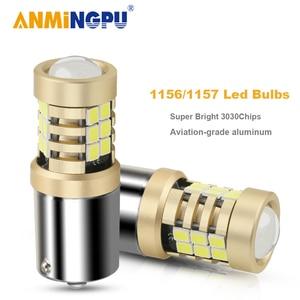 ANMINGPU 2X Signal Lamp 1156 Led PY21W BAU15S BA15S P21W R5W 2835SMD 1157 BAY15D Led P21/5W Canbus Turn Signal Light Brake Light