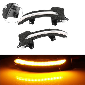 A Pair LED Dynamic Turn Signal Blinker Sequential Side Rearview Mirror Indicator Light Repeater Lamp For Honda Accord Inspire