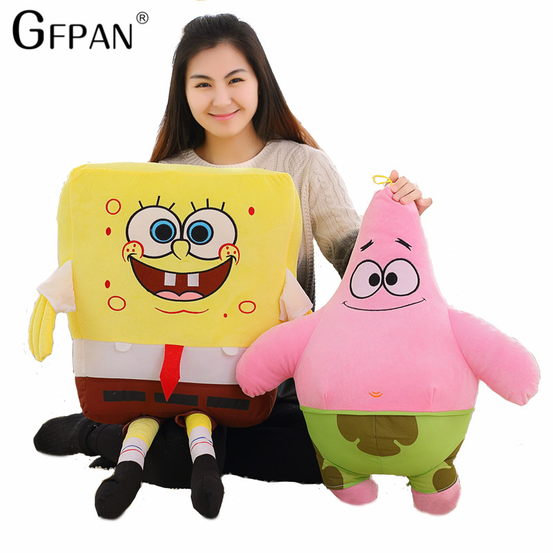 50-20cm 1pc Sponge Bob Spongebob Plush Toy Soft Anime Cosplay Doll For Kids Toys Cartoon Figure Cushion Home Decoration