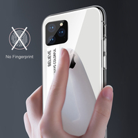 silicone case 11 Pro Max 6 7 8 Plus X XS XR Luxury Phone Case For iPhone Gradient Tempered Glass Protective Case Hard Back Soft Silicone Cover (5)