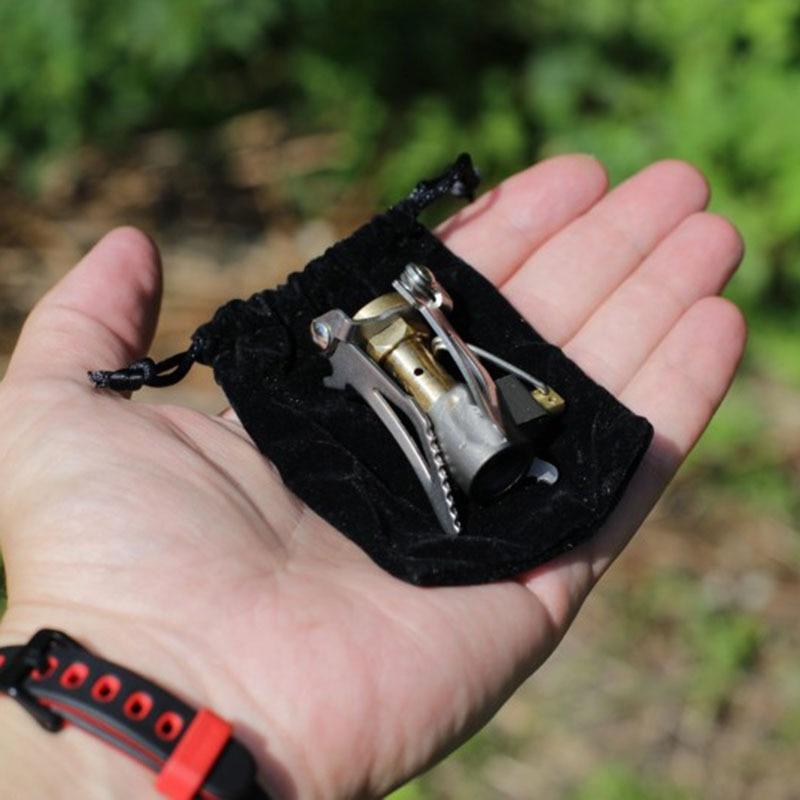Kültéri kályha titánötvözetből összecsukható mini kemping - Kemping és túrázás
