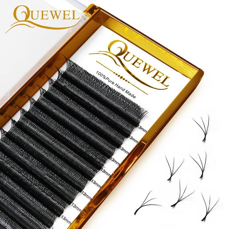 Quewel W Shape Индивидуальные объемные ресницы W Style двойные накладные ресницы C/D Curl Новые Накладные ресницы для макияжа