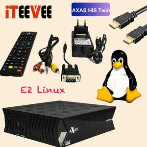 Image 4 - מלא HD מקלט לווין עם 2x DVB S2 ישב מקלט מותקן עם Axas שלו תאום לינוקס E2 פתוח טרקטורונים 6.4 טלוויזיה תיבת המניה עכשיו