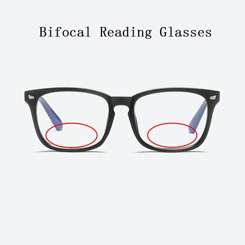 Women Bifocal Reading Glasses magnifier Men Rivets Retro Square Look Near Far Presbyopia Spectacles Can Custom Prescription N5-in Women's Reading Glasses from Apparel Accessories