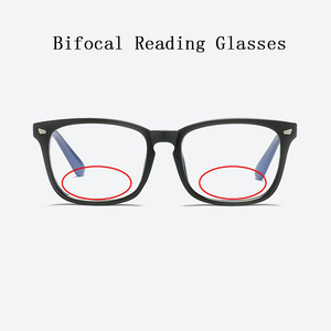 Image 1 - Women Bifocal Reading Glasses magnifier Men Rivets Retro Square Look Near Far Presbyopia Spectacles Can Custom Prescription N5