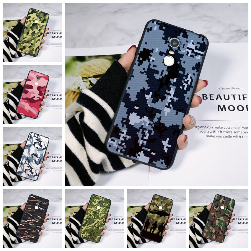 Camo <font><b>Army</b></font> Phone <font><b>Case</b></font> For Pocophone F1 <font><b>Xiaomi</b></font> <font><b>Redmi</b></font> S2 4A 5A 6A 5 Plus <font><b>Redmi</b></font> Note 4 <font><b>4X</b></font> 5 5A 6 Pro Prime Soft Silicon Back Cover image