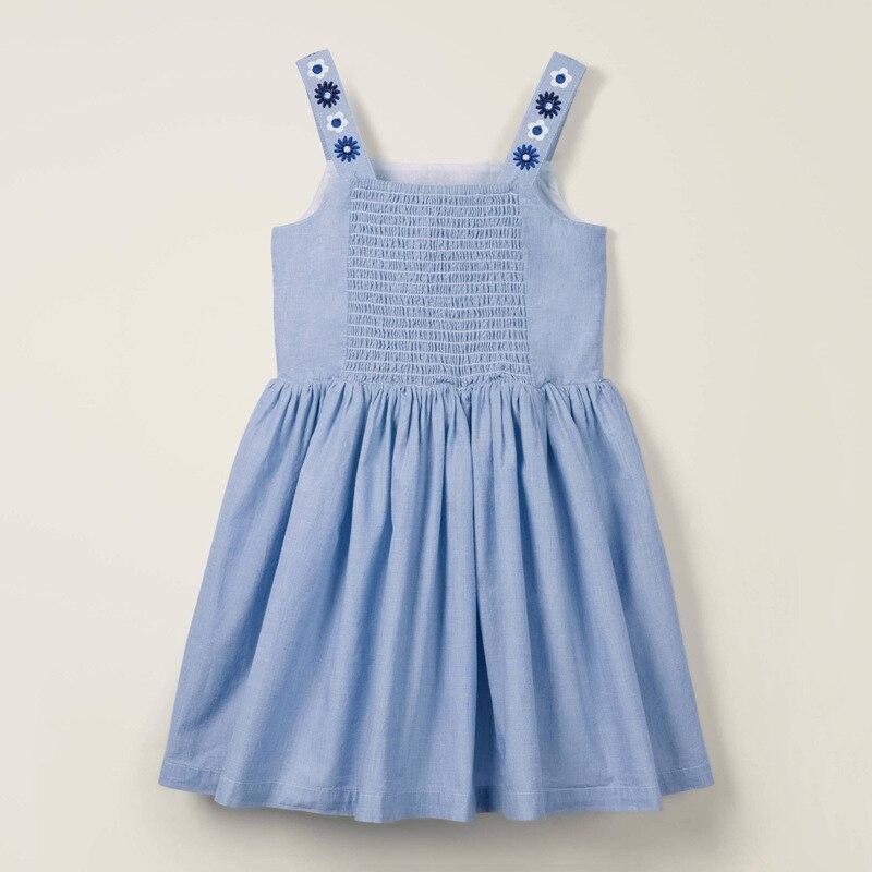 Little maven dress Girls 2021 Summer Clothes Floral Applique Summer Princess Cotton Dresses Flower Print Cotton Party Dresses 5