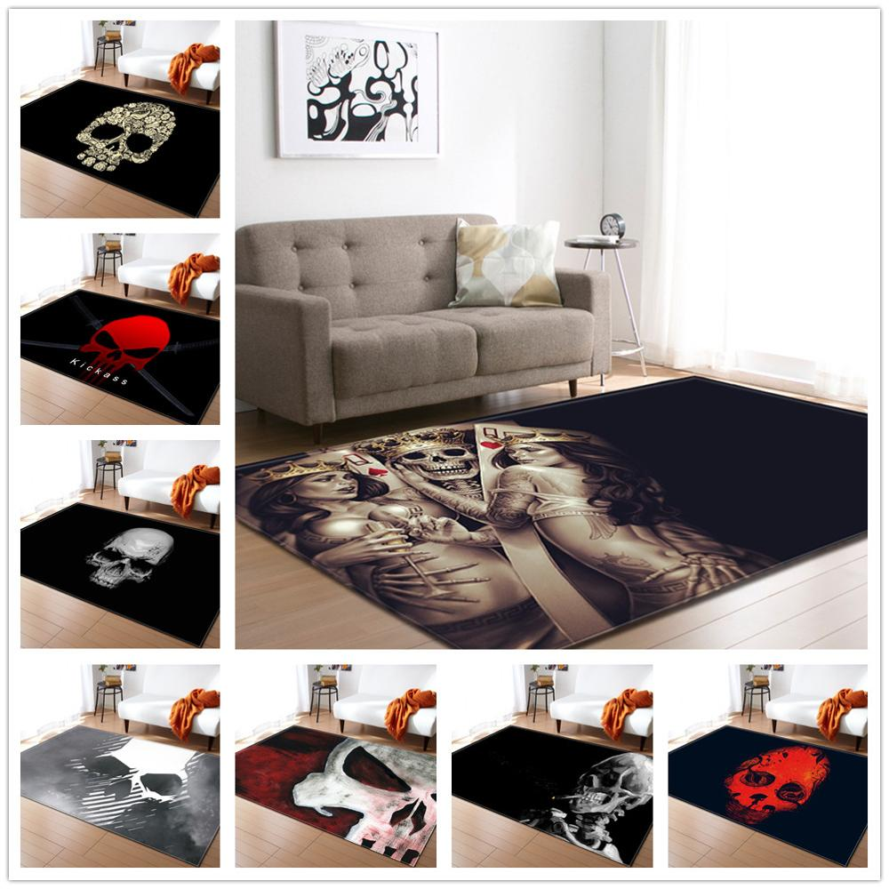 30 Styles Skull Series Pattern Carpets For Living Room Bedroom Area Rugs Halloween Party Decoration Soft Carpet Coffee Table Mat