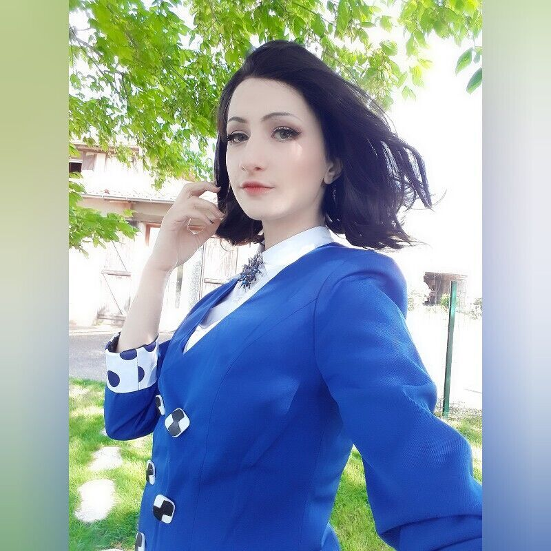 Heathers The Musical Rock Veronica Sawyer Stage Dress Concert Cosplay Costume XS-XL Women Uniform Blue Jacket Stock Ship From US