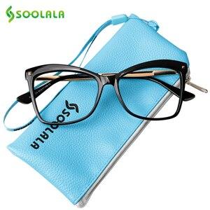 Image 4 - SOOLALA gafas de lectura tipo ojo de gato con remaches para mujer, grandes gafas, gafas de aumento, presbicia con dioptría 0,5 0,75 1,25 a 5,0