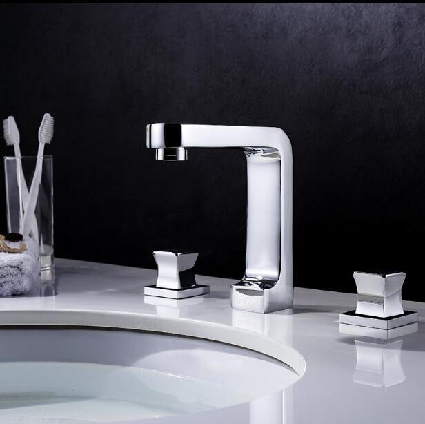 Vidric robinet de lavabo de 8   construction en laiton massif, finition or chaude et froide, robinet de salle de bains