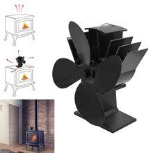 4-klinge Wärme Versorgt Herd Fan Thermodynamische Kamin Fans für Holz Kamin Stille Umweltfreundliche Wärme Verteilung