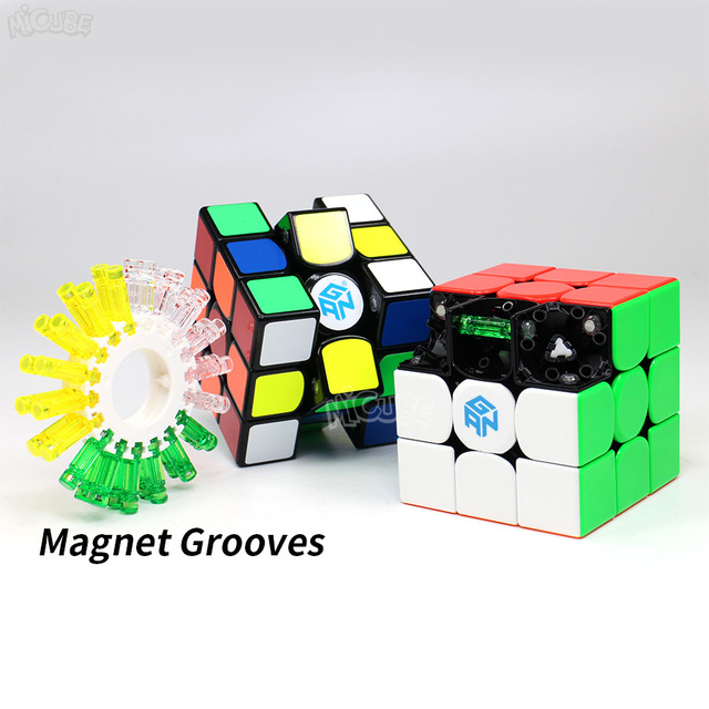 Gan356X Cube V1 3x3x3 Cube magnétique 3x3x3 Cube de vitesse magique 3x3 Gan Cube 356x Magico Cubo avec aimant Puzzle professionnel GAN