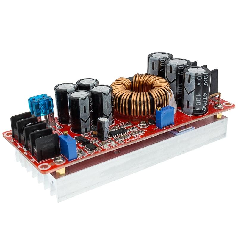 Преобразователь постоянного тока 1200 Вт 20 А, Повышающий Модуль питания на выходе 8 60 в, 12 83 в|Интегральные схемы|   | АлиЭкспресс