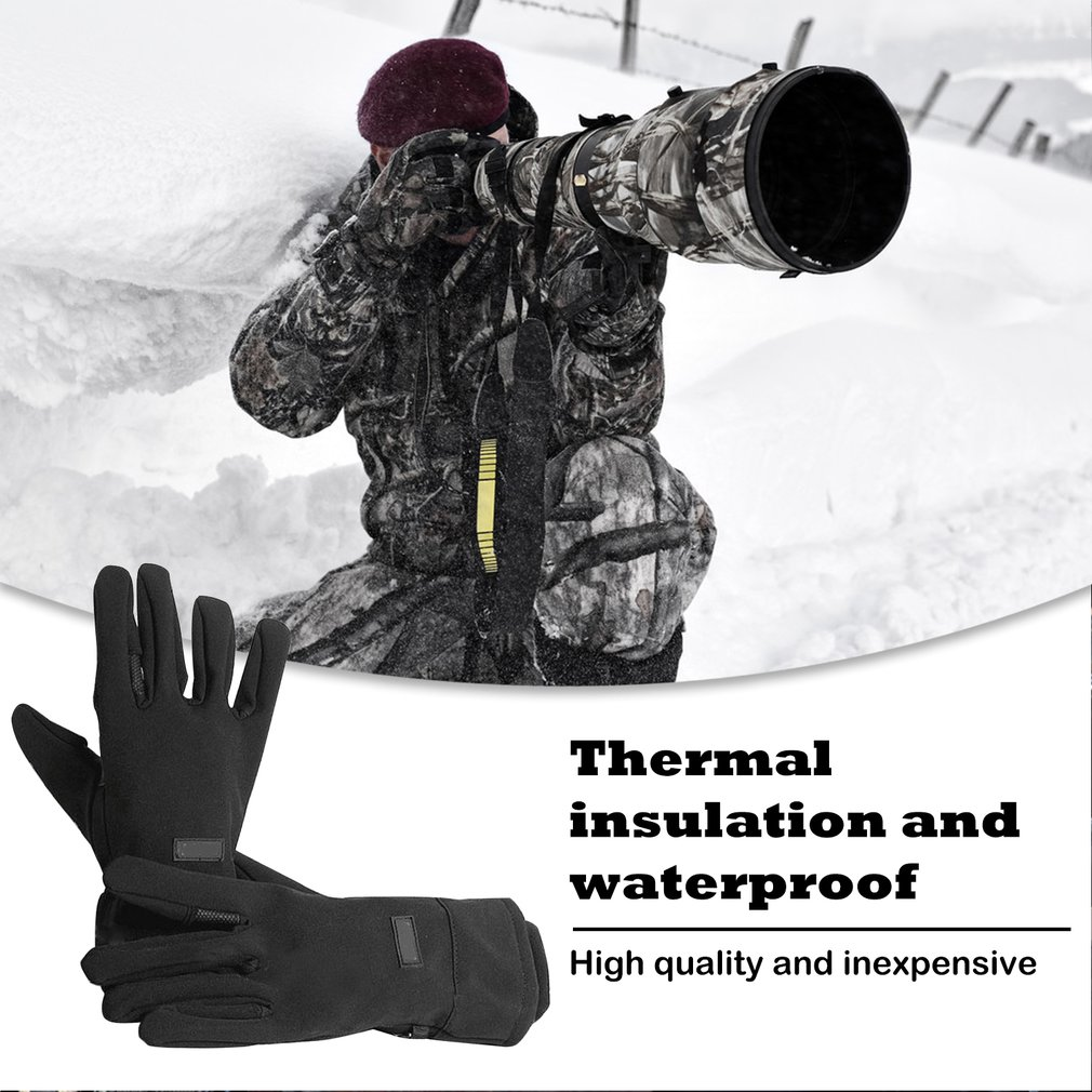 Waterproof Photography Gloves Anti-skid Warm Outdoor Camera Shooting Glove For Universal Camera Accessories