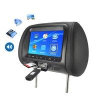 Car Universal 7Inch Tft Led Screen Car Mp5 Player Rear Headrest Digital Display Support Av / Usb / Sd Input / Fm / Speaker Bla