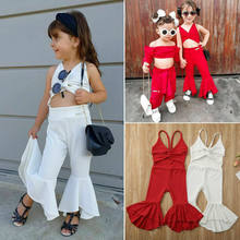 Summer Infant Toddler Baby Kids Girl Solid Fashion Jumpsuit Sleeveless Playsuit Outfit(China)