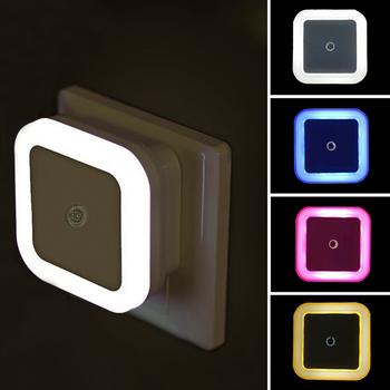 Bezprzewodowy LED lampka nocna z czujnikiem oświetlenie Mini ue wtyczką amerykańską lampka nocna dla dzieci dzieci światła do sypialni salonu oświetlenie tanie i dobre opinie FENGRISE Night Light square CN (pochodzenie) W1682 Lampki nocne NONE Żarówki LED 110 v W nagłych wypadkach 0-5 w