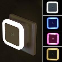 Led night light sensor de movimento iluminação mini ue eua plug night light lâmpada para crianças sala estar quarto luzes iluminação