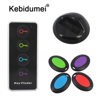 Lokalizator kluczy 4 w 1 zaawansowany bezprzewodowy klucz zdalny lokalizator portfele na telefon Anti-Lost z funkcją latarki 4 odbiorniki i 1 stacja dokująca tanie i dobre opinie kebidumei Wireless key finder with key ring Angielski 433 92M Hz 105x46x13mm (transmitter) 50x36x11mm (receiver) 75x29mm (base)