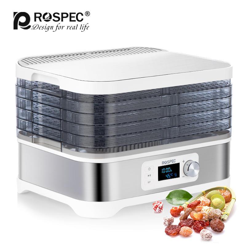 Бытовой пищевой Дегидратор ROSPEC, сушилка для фаст-фуда, сушилка из нержавеющей стали, электрическая сушилка воздуха, сушка фруктов, мяса, фру...