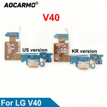 Aocarmo For LG V40 ThinQ Type C USB Charger Dock Charging Port Connector Bottom Mic Microphone Circuit Board Flex Cable