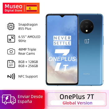 Global Version OnePlus 7T Snapdragon 855 Plus Smartphone Octa Core 6.55'' 90Hz AMOLED Screen 48MP Triple Cam 30W NFC Android 10