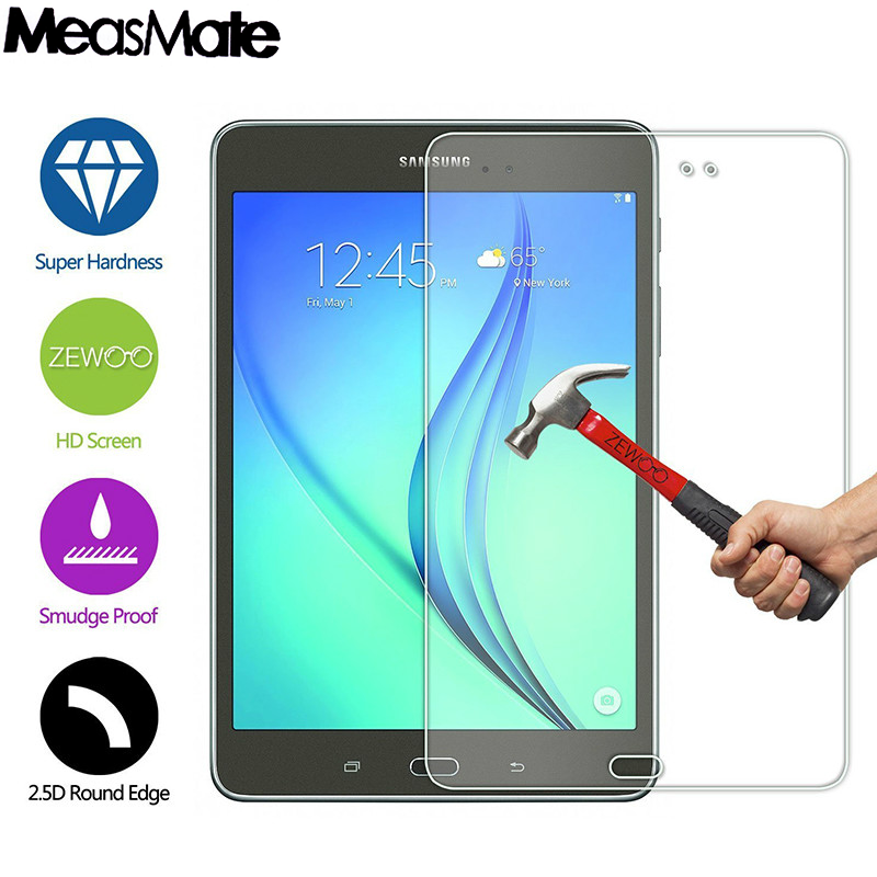 Protect-Cover Tempered-Glass Samsung Galaxy 9H For Tab-A T350/T351/T355 8--Film Clear-Screen