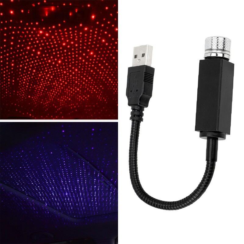 Car USB Star Ceiling Light Roof Atmospheres Lights Romantic Night Light Car Decorations
