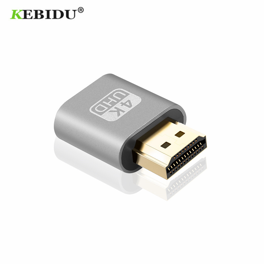 KEBIDU HDMI совместимых с виртуальной Дисплей 4K DDC EDID заглушка EDID эмулятор отображения адаптер Поддержка 1920x1080P для видео