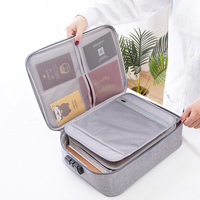 Big Capacity Document Organizer Insert Handbag Travel Bag Pouch ID Credit Card Wallet Cash Holder Organizer Case Box Accessories|Briefcases| |  -