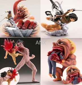 4pcs/set Attack on Titan Figure Rival Ackerman Action Figure Package Ver. Levi PVC Action Figure Rivaille Collection Model Toys
