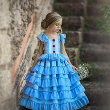 Children Girl Suspenders Dress Baby Pleated Layered Dress Long Dress Kids Girl Casual Dress pleated cami night dress