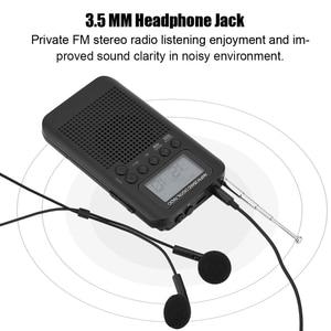 Image 2 - Mini LCD cyfrowy głośnik radiowy FM/AM budzik wyświetlacz czasu gniazdo jack do słuchawek 3.5mm radio przenośne