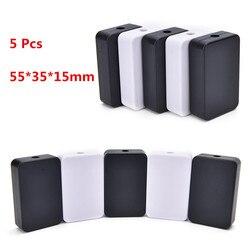5 Stks/partij Zwart Wit Diy Behuizing Instrument Case Plastic Elektronische Project Doos Elektrische Benodigdheden 2 Kleuren 55*35*15Mm