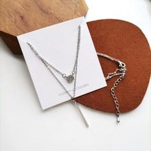 New Fashion Web Celebrity Temperament Simple Delicate Diamante Pendant Double Layer Necklaces 2089