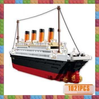 Model Building Kits City Titanic RMS Cruise Ship 3D Blocks Educational Model Building Blocks Bricks Toys Hobbies for Children new starwars destroyer cruise ship star plan the empire over jedha city building blocks bricks toys for christmas gift 05027
