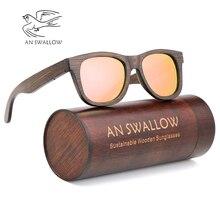 Luxury sunglasses men polarized uv400 high quality fashion sunglasses brand woman man handmadebrown bamboo retro Driving glasses цены