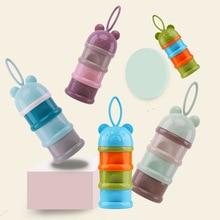 Детская Бутылочка для путешествий для малышей, портативный дозатор для молочного порошка, контейнер для еды, коробка для хранения бобов
