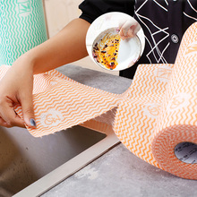 Kitchen Disposable Rag Dishcloth Cleaning Wipes Oil-Free Bamboo Fiber Wipe Tablecloth Supplies