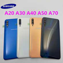 Original Back Battery Cover Door Housing For Samsung Galaxy A10 A20 A30 A40 A50 A70 Back Rear Case Replacement+Camera Lens