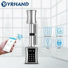 TT 자물쇠 apSmart 자물쇠 DIY 열쇠가없는 두 배 보충 실린더 자물쇠 TT 자물쇠 app WiFi 유로 실린더 똑똑한 자물쇠