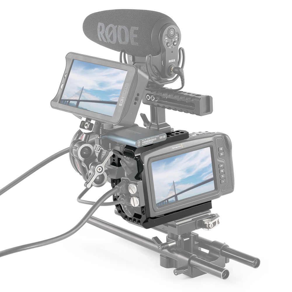 SmallRig Halb Käfig für Blackmagic Design Tasche Kino Kamera 4K Käfig Mit NATO Schienen + Kalten Schuh + Arri ortung Loch-2254